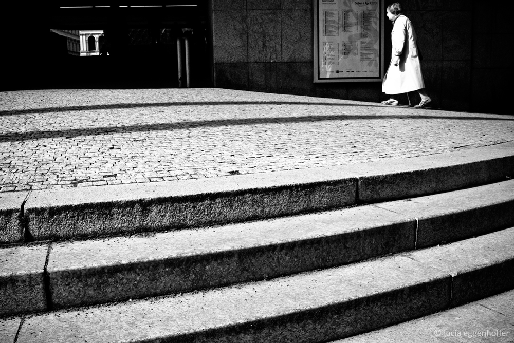 She's like a note on the music staff of the day, Prague, Czech republic © lucia eggenhoffer