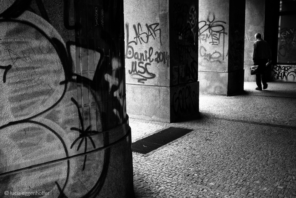 Prison bars of passage way, Prague, Czech republic © lucia eggenhoffer